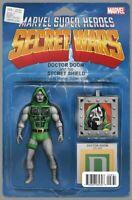 SECRET WARS #8 Variant NM Marvel 2015 Dr. Doom Action Figure Comic NM