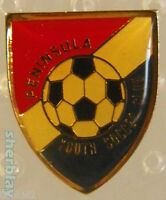 VTG Soccer Ball Sports PENINSULA YOUTH SOCCER CLUB  80s Hat Pin Badge Pinback