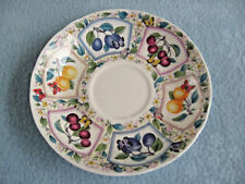 "Prunus Roy Kirkham Fine Bone China 6 5/8"" Fruit Design Saucer England"