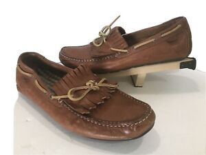 Sperry Top-Sider Brown Leather Kilt Tie Boat Loafer shoes Mens 12