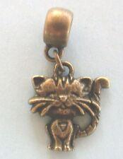 pendentif bronze chat coeur