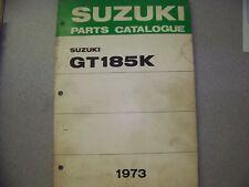 SUZUKI GT185K  PARTS CATALOG 1973