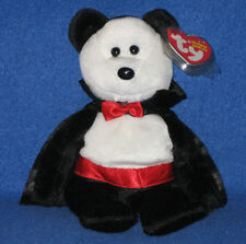 TY BARON VAN PYRE the HALLOWEEN BEAR BEANIE BABY - MINT with MINT TAGS