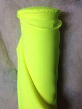 Tissu au mètre BURLINGTON Jaune Fluo infroissable déco habillement ameublement