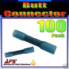 100 BLUE ADHESIVE LINED HEAT SHRINK BUTT CONNECTORS
