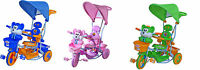 THREE WHEEL BIKE TRICYCLE SCOOTER BABY CHILD squirrel mouse TRIKE PARENT HANDLE