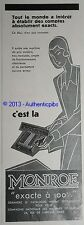 PUBLICITE ANCIENNE 1930 MONROE MACHINE A CALCULER EXACTE A 100%  ORIGINAL AD