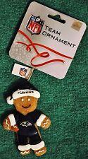 Baltimore Ravens Gingerbread Man Christmas Tree Ornament NEW