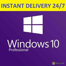 INSTANT WINDOWS 10 PROFESSIONAL PRO KEY 32/64 BIT GENUINE LIFETIME LICENSE CODE