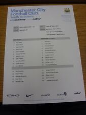 28/03/2014 Manchester City U21 v Sunderland U21  (single sheet). Thanks for view