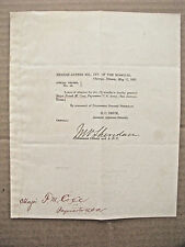 GENERAL MICHAEL SHERIDAN AUTOGRAPH SIGNED US MILITARY ORDER 1876