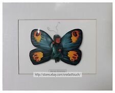 ANNE GEDDES 8 x 10 Art Photo MATTED PRINT Picture BABY+BLUE/YELLOW BUTTERFLY New