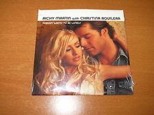 RICKY MARTIN / CHRISTINA AGUILERA Nobody Wants To Be Lonely PROMO CD SINGLE NEW