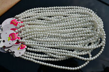 FREE Wholesale lots Jewelry 20pcs white pearl-like glass bead Necklace Len 44cm
