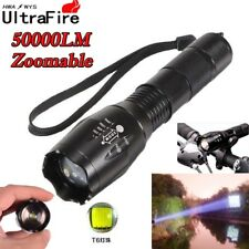 50000Lumens T6 Zoomable 5 Modes Tactical 18650 Flashlight Military Focus Torch