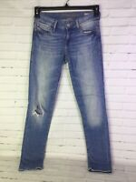 Mavi Womens Size 24 x 32 Serena Low Rise Super Skinny Denim Jeans Distressed