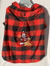 Disney Christmas Holiday 2019 Red Black Plaid Shirt Pet Dog Size LARGE NWT