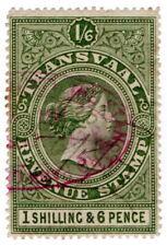 (I.B) Transvaal Revenue : Duty Stamp 1/6d