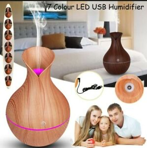 LED Colorful Essential Oil Diffuser Aromatherapy Ultrasonic Cool Mist Humidifier