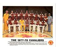 1977 1978 CLEVELAND CAVALIERS  8X10 TEAM PHOTO FRAZIER OHIO BASKETBALL USA NBA