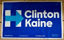 Hillary Clinton Tim Kaine sign all weather 2 sided polybag $1 shipping