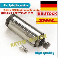 【EU┇DE】  CNC 2200W Air cooled spindle motor ER20 2.2KW 220V 24000rpm 4Bearing 8A