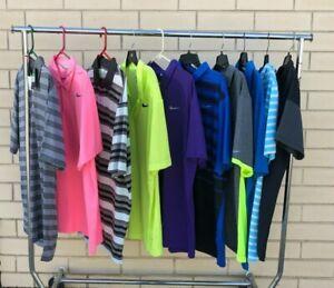 BUNDLE Lot of 10 Men's XL Nike Golf Polo Short Sleeve Athletic Shirts (NWT)