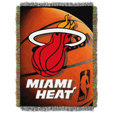 Miami Heat NBA Woven Tapestry 48x60 Throw Blanket
