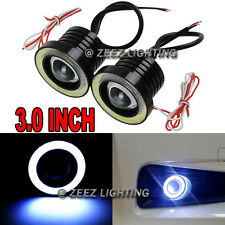"3.0""LED COB Projector Fog Driving Lamp Angel Eye Halo Ring DRL Daytime Light C08"
