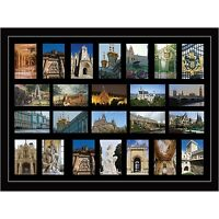 """Large multi picture photo aperture frame fits 24 photos of size 6"""" x 4"""" inches"""