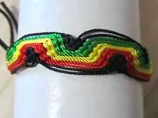 BRACELET ADJUST ANKLET COTTON CORD FRIENDSHIP RASTA TRIBAL SURFER mens women new
