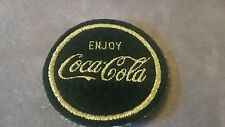 Rare Coca Cola Patch 1970 Black and gold