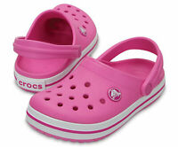 Crocs KIDS Crocband Clogs II Party Pink NEW CHOOSE SIZE AUTHENTIC