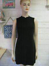 TOPSHOP black sleeveless short shift dress high neck size 6