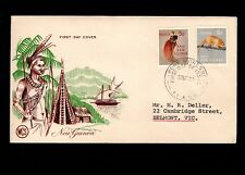 Papua & New Guinea Port Moresby 1st Day 1963 Wildlife 5d & 6d On Cover 5l