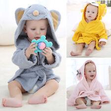 Newborn Girl Boy Baby Animal Bathrobe Baby Hooded Bath Towel Infant Bathing Soft