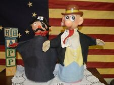 1964  BARNEY GOOGLE & SNUFFY SMITH COMIC STRIP CHARACTER & PIRATE Hand Puppets