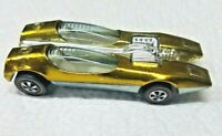 HOT WHEELS VINTAGE REDLINE 1968 SPLITTIN IMAGE GOLD WHITE INTERIOR UNRESTORED