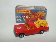 Matchbox Superfast No 60 Holden Pick-Up Red SHIELD Label VNMIB RARE