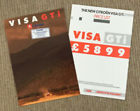 1985 Citroen Visa GTI Brochure + Price List