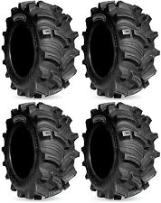 Four 4 Kenda Executioner ATV Tires Set 2 Front 26x10-12 & 2 Rear 26x10-12 K538