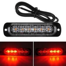 Red 6 LED Car Automotive Emergency Beacon Warning Hazard Flash Strobe Light Bar