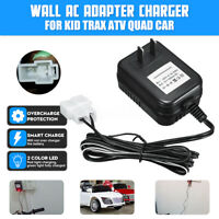 New Wall AC Charger Adapter For 6V Battery Powered Ride On Car Kid TRAX ATV