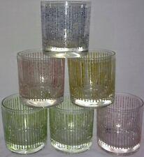 Striped Low Ball Glasses Set Of 6 Barware