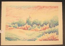 """Original Monotype Mixed Media by Peggy Corthouts """"Summer Meadows II"""""""