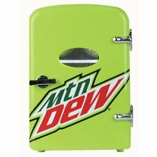 Mountain Dew 6 Can Cooler/Mini Fridge Car or Wall Plug In Option Portable New!