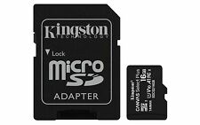 Kingston Micro SD 16 GB Canvas Select Plus C10 100MB/s Read Flash Memory Card ct