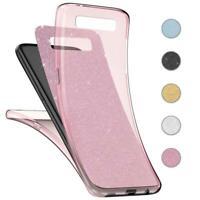 Handy Hülle Samsung Galaxy S8 /Plus Full TPU Case Glitzer Schutzhülle Cover Klar