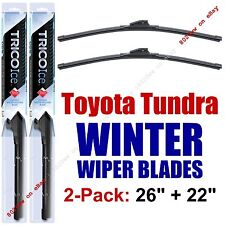 WINTER Wipers 2pk Premium Beam Snow Ice fit 2007+ Toyota Tundra - 35260/220