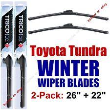 WINTER Wipers 2pk Premium Beam Snow Ice fit 2007-2016 Toyota Tundra - 35260/220